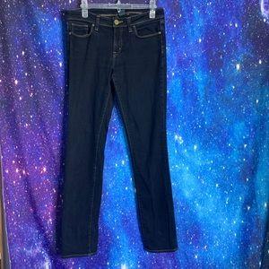 Uniqlo- Dark Wash Straight Leg Jeans size 8